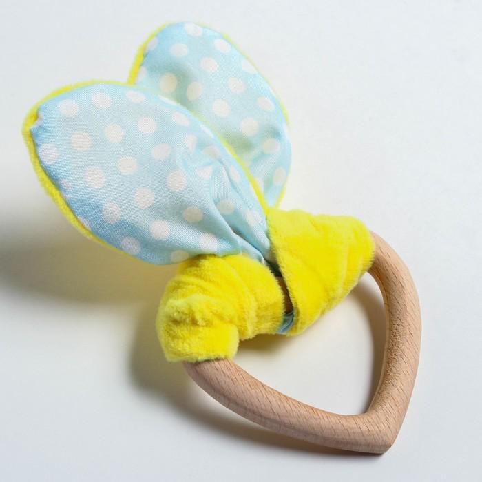 Развивающая игрушка-грызунок «Для маленьких джентльменов», форма сердце