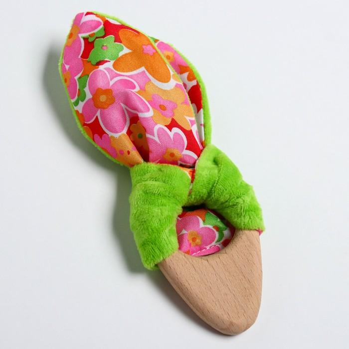 Развивающая игрушка-грызунок «Для маленьких принцесс», форма морковка