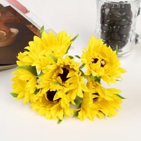 """Decor art """"Sunflowers"""" (set-bouquet of 6 flowers), 11 cm, d = 5 cm, MIX"""