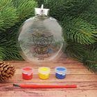 Новогоднее ёлочное украшение под роспись «Шар с ангелочком» шар:3×10×11 см + краски