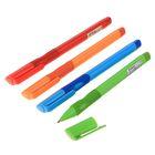 Ручка шариковая, 0.7 мм, стержень синий, корпус с резиновым держателем, МИКС