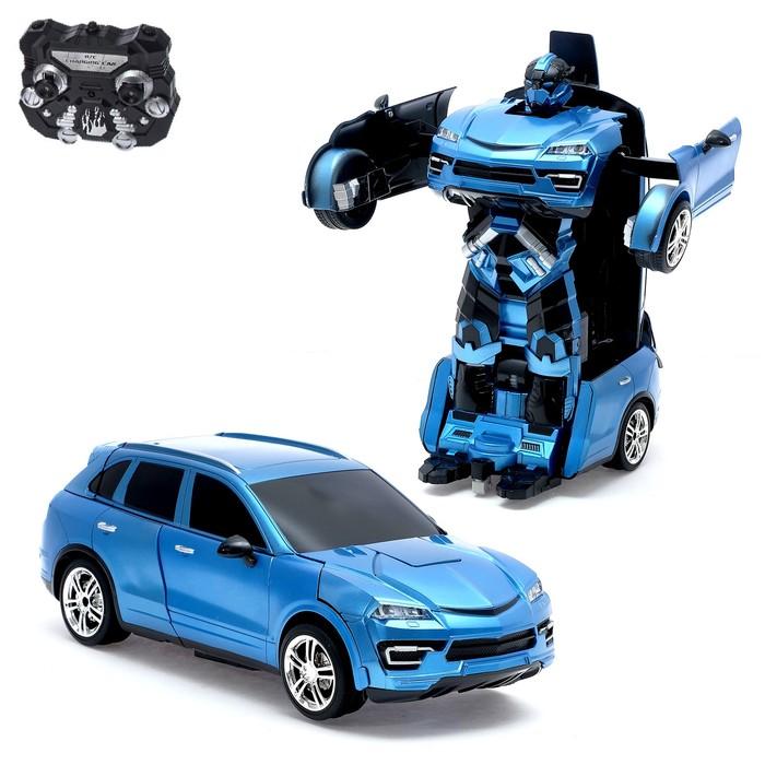 Робот-трансформер радиоуправляемый «Кроссовер», световые и звуковые эффекты, работает от аккумулятора