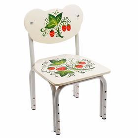 Детский стул «Кузя. Стандарт с росписью», регулируемый, разборный