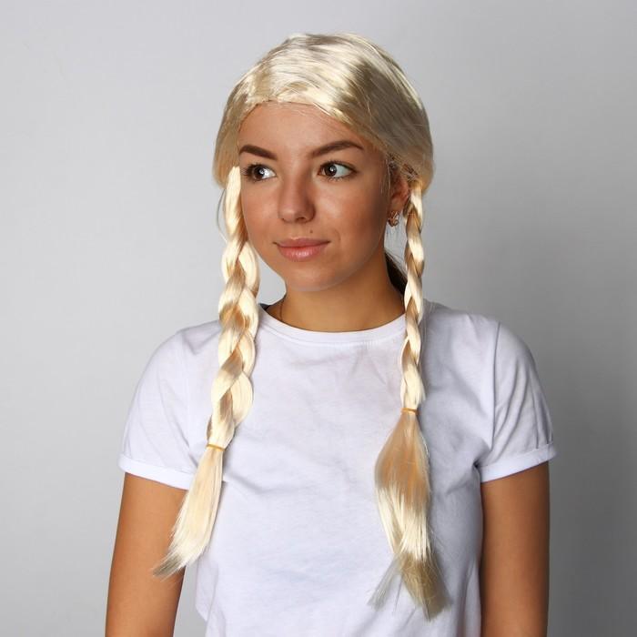 """Карнавальный парик """"Косы"""", 170 г"""