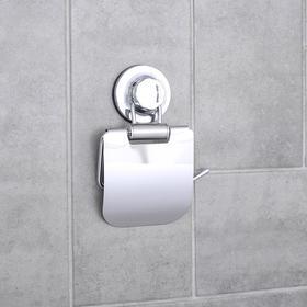 """Держатель для туалетной бумаги на вакуумной присоске """"Accoona A11405"""", цвет хром"""