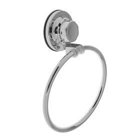 Держатель для полотенец одинарный, кольцо Accoona A11408, на вакуумной присоске, цвет хром