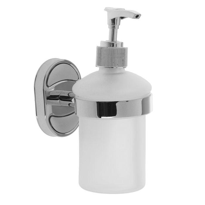 Дозатор для жидкого мыла настенный Accoona А11213, 200 мл, стекло - фото 1001124