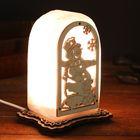 """Соляной светильник """"Снеговик"""", с узором 14 х 8 х 6 см, деревянный декор, цельный кристалл"""