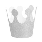 "Carnival crown ""Magnificence"", elastic, color silver"