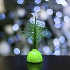 """Игрушка световая """"Ёлочка"""" (батарейки в комплекте) 14 см, 1 LED, RGB, зеленая"""
