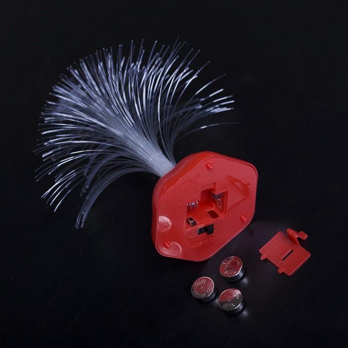 "Игрушка световая ""Ёлочка"" (батарейки в комплекте) 17 см, 1 LED, RGB, белая"