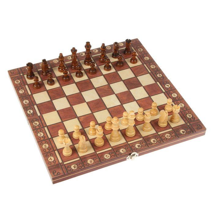 """Настольная игра 3  в 1 """"Эгрето"""": шахматы, шашки,  нарды   33,5 х33,5см"""