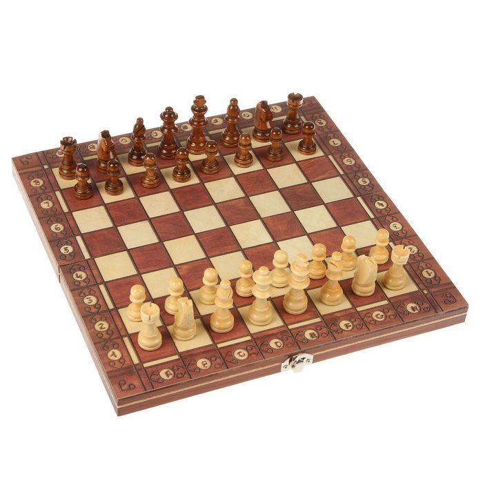 """Настольная игра 3  в 1 """"Эгрето"""": шахматы, шашки, нарды  29х29 см"""