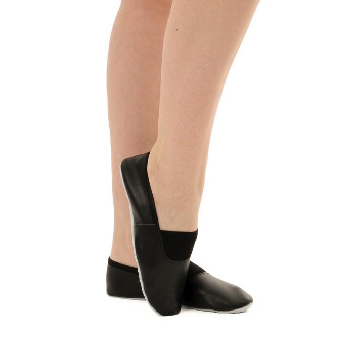 Чешки комбинированные, цвет чёрный, размер 25 (17,1 см)