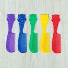 Расчёска с ручкой, фигурная, цвета МИКС