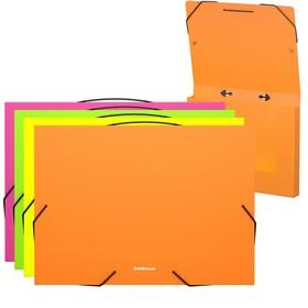 Папка А4 30 мм на резинке с ручкой Neon, микс, EK 44442 Ош