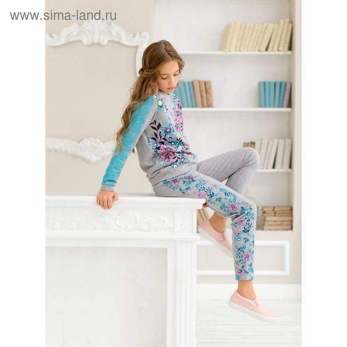 Джемпер для девочки, рост 152 см, цвет серый