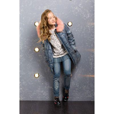 Пальто для девочки, рост 146 см, цвет лёд
