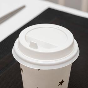 Крышка одноразовая на стакан с носиком, d=8 см, цвет белый, 1000 шт/уп.