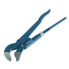 Ключ трубный Hardax, рычажный, №1, раскрытие губ10-35 мм, 45°, изогнутые губы