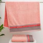 Полотенце махровое стриженое Spany Interio, LACE цв.розовый, 50х90 хл.100%