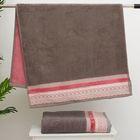 Полотенце махровое стриженое Spany Interio, LACE цв.серебро, 50х90 хл.100%