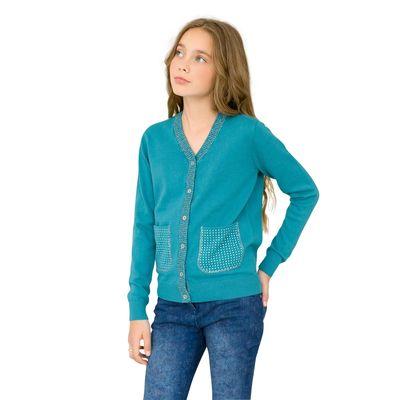 Жакет для девочки, рост 128 см, цвет голубой