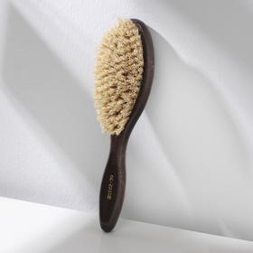 Щётка для одежды, 23,3×6 см, натуральная щетина, цвет МИКС
