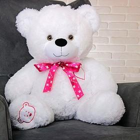 Мягкая игрушка «Медведь Тимка», цвет белый, 85 см, бант МИКС