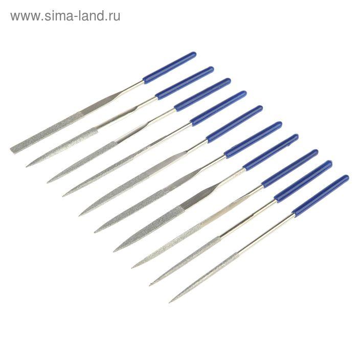 Надфили FIT, алмазные, ПВХ ручка, 3 х140 х50 мм, 10 шт