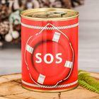 Копилка-банка металл SOS 7,6х9,5 см