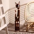 """Сувенир дерево """"Кошка с золотыми цветами"""" 80х17х6 см"""