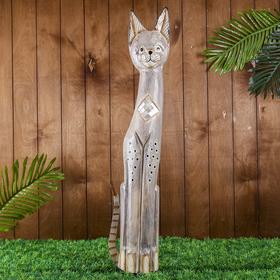 "Souvenir of tree ""the Cat with a diamond mirror mosaic"" 80х21х6 cm"