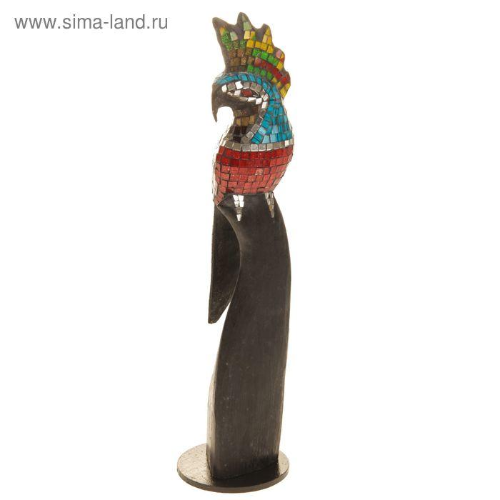 """Сувенир стекло """"Попугай"""" 50х13х13 см"""