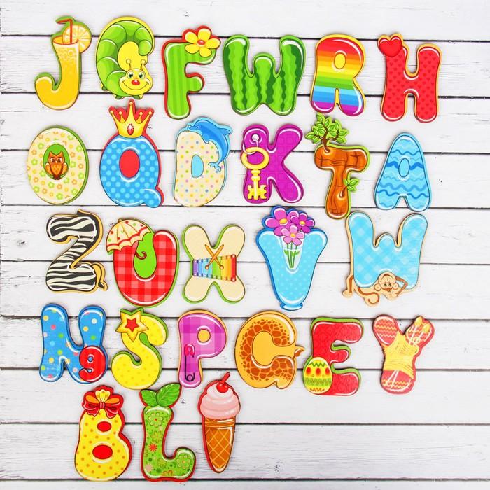 Алфавит английский «Весёлый», буква 5 × 6 см