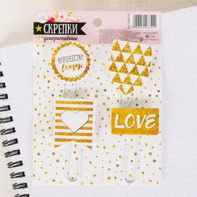"""A set of paper clips for scrapbooking """"Magic around"""" (4pcs), 9.5 x 13 cm"""