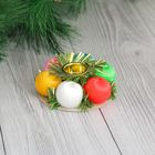Candle holder Christmas Color balls for one candle d-8 cm