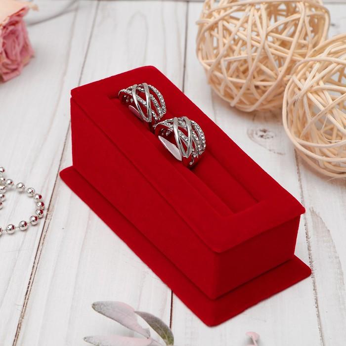 Подставка под кольца 1 полоса, 5*11*4,5 см, цвет красный
