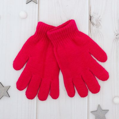 """Перчатки Collorista """"Радуга"""", размер 14 (р-р произв. 14*7 см), цвет розовый"""