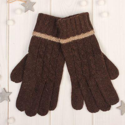 """Gloves women's """"Dahlia"""" size 16 (p-R production. 8), color brown"""
