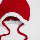 Комплект для девочки (шапка, шарф), размер 50, цвет красный - фото 105567288