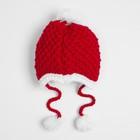 Комплект для девочки (шапка, шарф), размер 50, цвет красный - фото 105567289