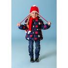 Комплект для девочки (шапка, шарф), размер 50, цвет красный - фото 105567285
