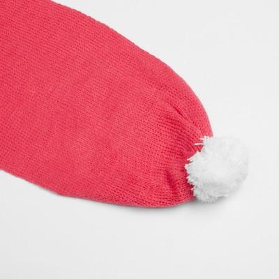 Комплект для девочки (шапка, шарф), размер 50, цвет розовый