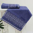 Полотенце махровое PRIME жаккард 30*50 синий хл.100%, 420 гр/м