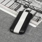 Чехол Time для телефона, с ремешком, размер 9, цвет чёрный/белый