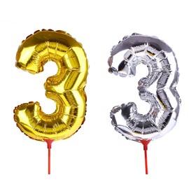 "Balloon foil 14"", figure 3, with a stick MIX color"