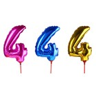 "Balloon foil 14"", figure 4, with a stick MIX color"