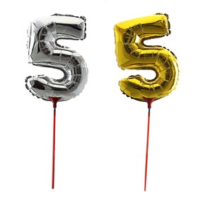 "Balloon foil 14"", figure 5, with a stick MIX color"