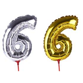 "Balloon foil 14"", figure 6, with a stick MIX color"